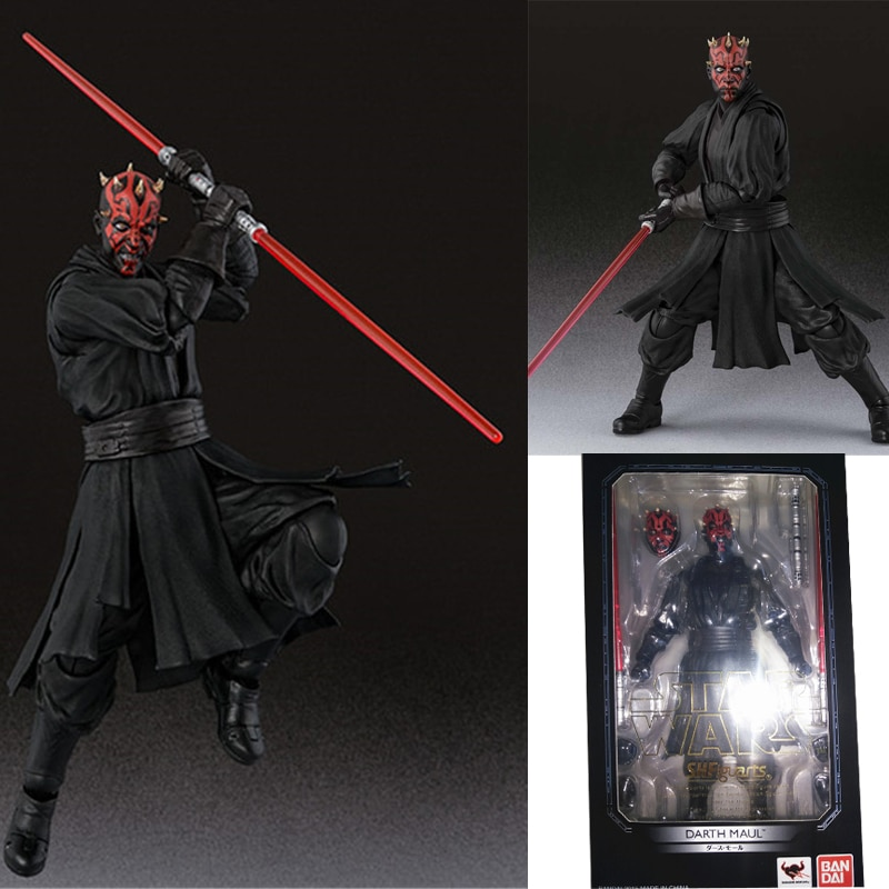 Figura de acción de PVC Figuarts Star Wars Darth Maul Jango Fetts soldado clon Fase I II colección de figuras de juguete regalo