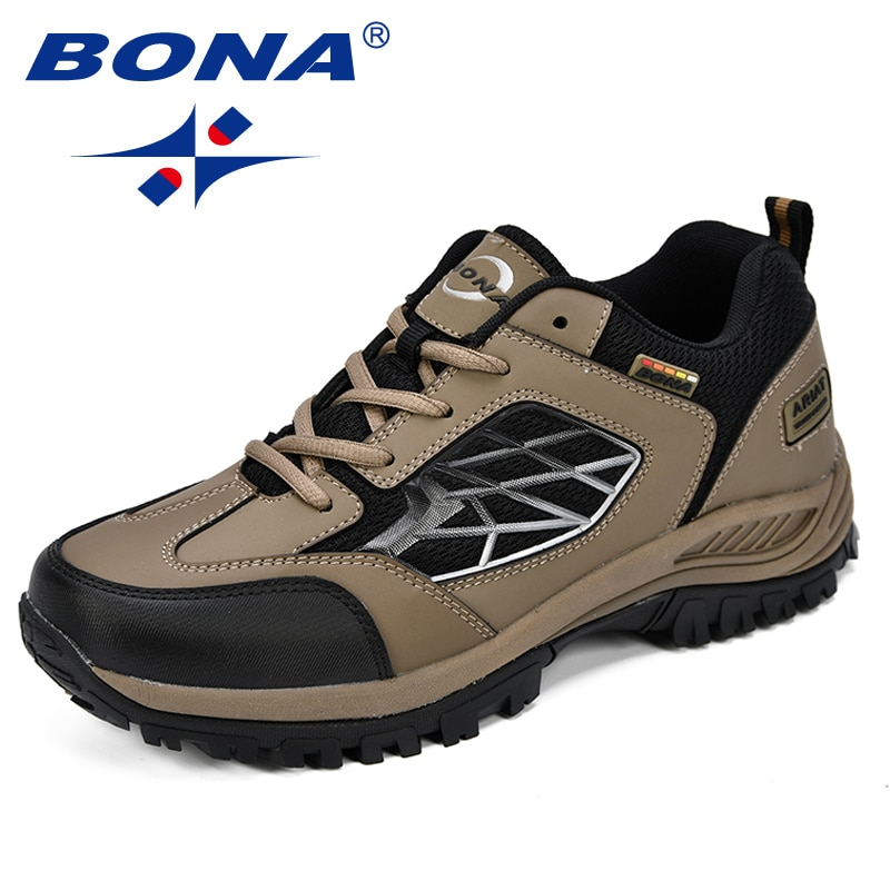 BONA New Classics Style Men Hiking Shoes Action Leather Sport Outdoor Jogging Comfortable Fast Free Shipping