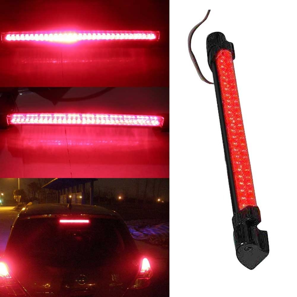 12V 24 LED alto montaje parada trasera luz de advertencia luz roja coche Auto tercera Tercera luz de freno estacionamiento Super brillante larga vida #279606