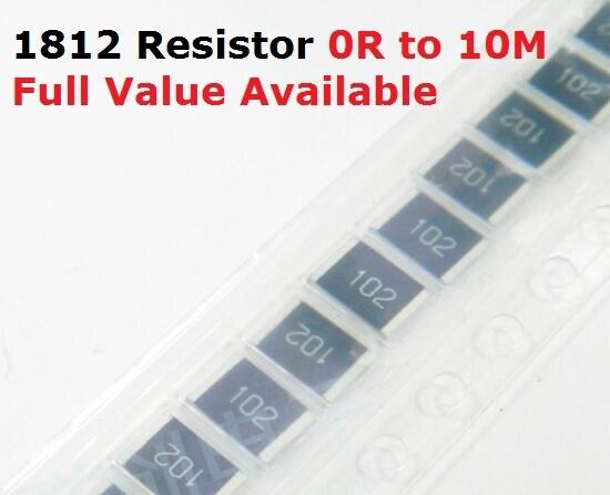 50 unids/lote resistencia SMD tipo chip 1812 de 240 K/270 K/300 K/330 K/360 K/Ohm resistencia de 5%/240/270/300/330/360/K resistencias envío gratis