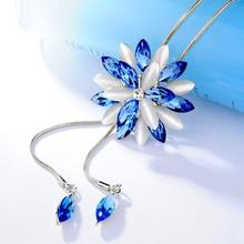 Dominé mode gland cristal grande étoile réglable pendentif collier pour femmes charme personnalité chaîne chandail accessoires