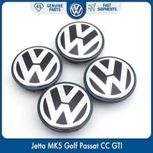 4pcs/set OEM 63mm Wheel Center Cap Logo Hub Cover Badge Emblem for VW Volkswagen Jetta MK5 Golf Passat 3B7 601 171