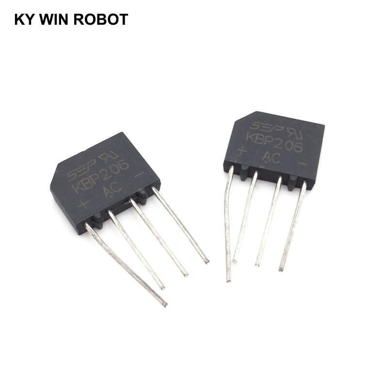 5PCS 2A 600V DIP-4 diode bridge rectifier KBP206 5pcs diode bridge rectifier 2a 3a 4a 6a 8a 10a 15a 25a 35a 600v 800v 1000v kbp206 kbp210 kbp310 kbl406 kbu810 gbj1510 gbj2510