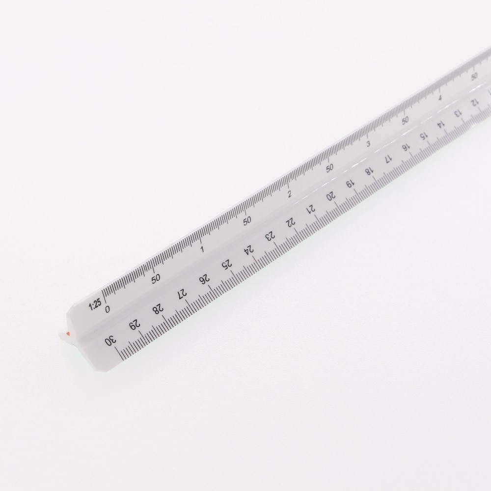 30cm Architect's Scale Ruler Three-sided Plastic Ruler Used by Architects  Three sides with six different scales #3031