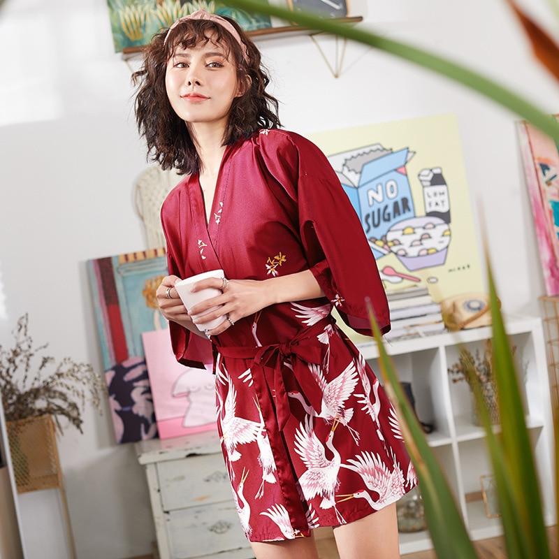 brand new silk satin women robe New Silk Kimono Robe Bathrobe Lace Nightgown Sexy Lingerie Women Nightdress Sleepwear Satin Homewear Camis Mini Dress Pyjamas