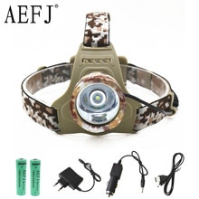 XM-L T6 LED Camouflage phare phare tête torche camping lampe lumière + 2x batterie + voiture ue/US/AU/UK prise chargeur