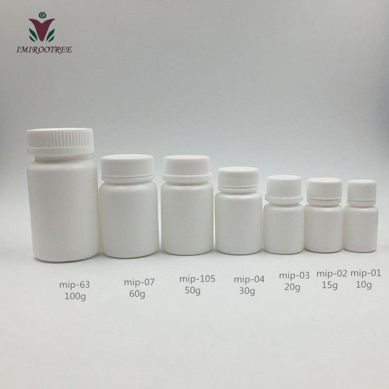 12 Uds 10cc 15cc 20cc 30cc 50cc 60cc 100cc HDPE blanco vacío pastillero frascos para cápsulas para embalaje médico