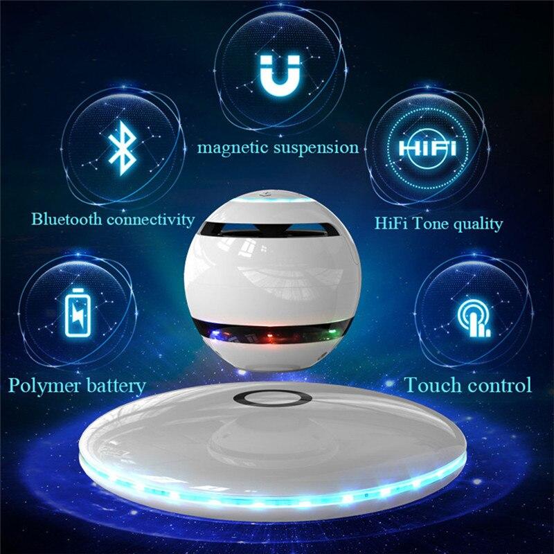 Altavoz estéreo con sonido envolvente, con Bluetooth, levitación magnética inteligente, multifunción, manos libres, 360