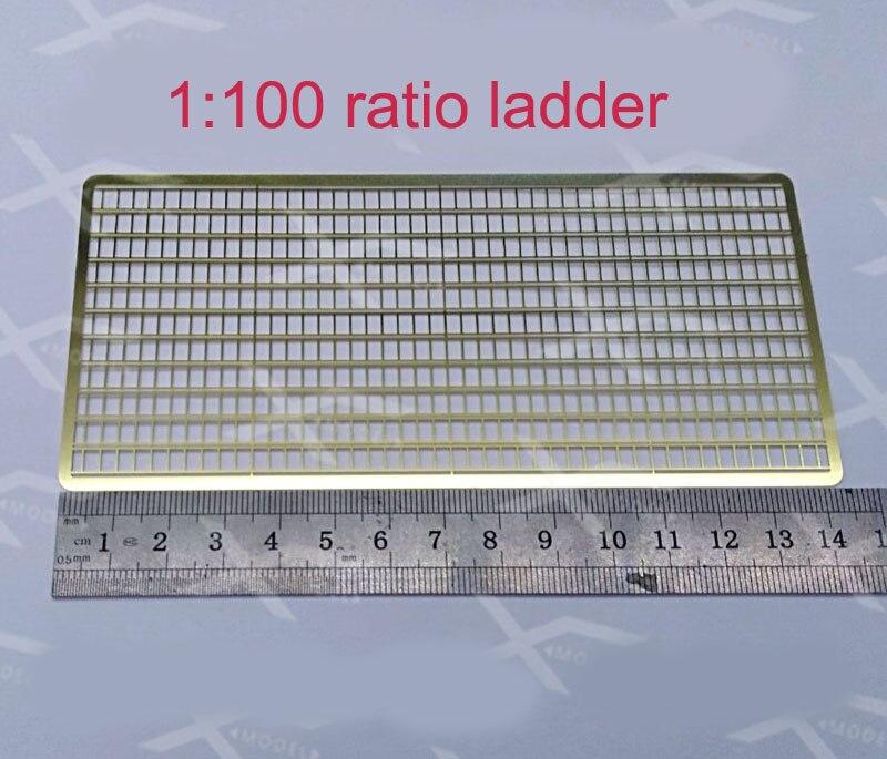 1 Juego de accesorios para barcos RC DIY 1100 Ratio latón grabado escaleras L139mm x W5mm escalera recta escalera