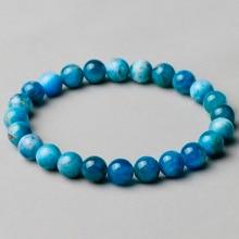 Naturel véritable bleu Apatite Phosphorite ronde en vrac 8mm lisse perles Bracelet pour femmes hommes énergie bijoux