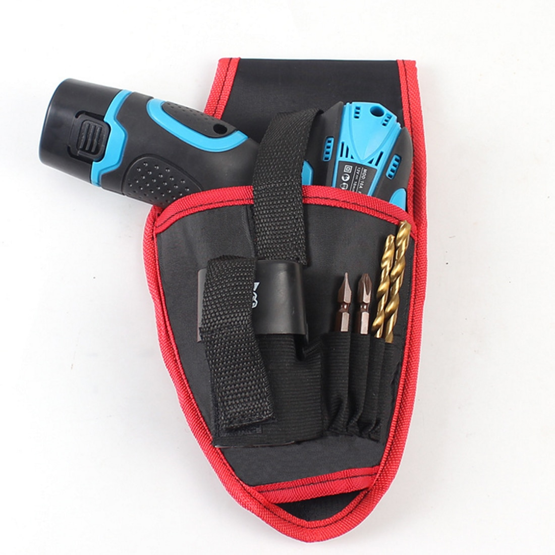 Набор ручных инструментов, портативный держатель для дрели, сумка для инструментов для дрели, отвертки, поясной инструмент, сумка на ремень,...