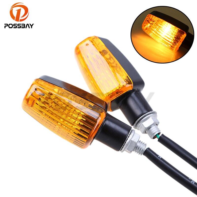 Сигнальный фонарь POSSBAY для мотоцикла, 12 В, янтарный индикатор поворота для Harley, Yamaha, Honda, CB, 600, Hornet, CB400, Shadow 750, кафе, Racer