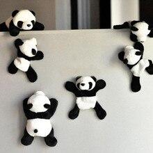 Tourist Souvenir Kühlschrank Magneten Plüsch Panda Tier Kühlschrank Magnetische imanes para refrigerador Reise Kinder Kinder Spielzeug A1