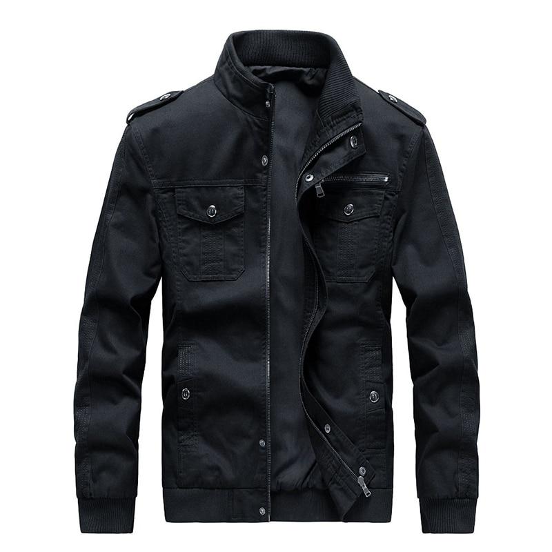 SRTM мужская хлопковая мужская куртка милитари со стоячим воротником с несколькими карманами солдатские повседневные стильные куртки 2019 осе...