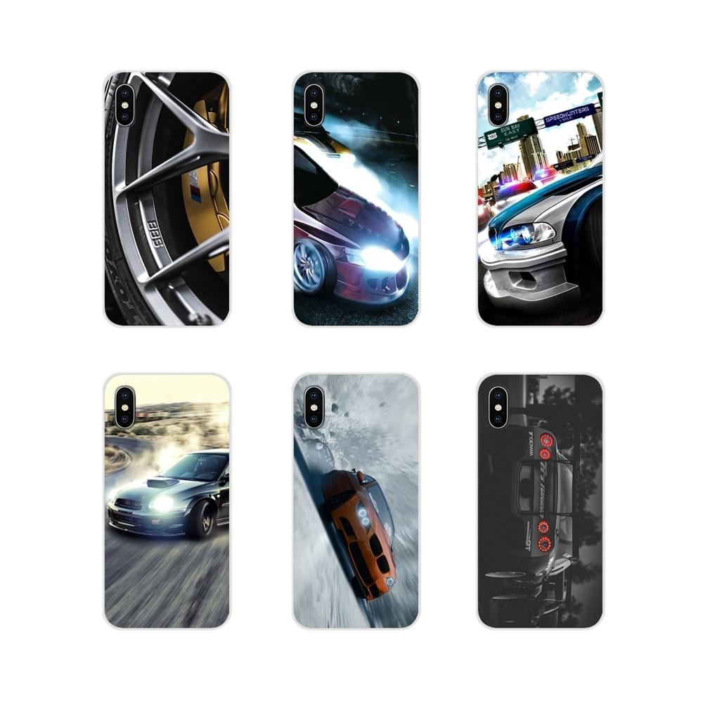 Accesorios fundas Shell para Huawei P8 9 Lite Nova 2i 3i GR3 Y6 Pro Y7 Y8 Y9 primer 2017 de 2018 2019 marca de coches velocidad Yokohama Drift