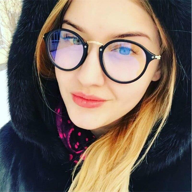 2020 Retro Women Glasses Frame Fashion Men Eyeglasses Frame Vintage Round Clear Lens Glasses Optical Spectacle Frame