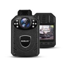 Boblov KJ21 Body Worn Camera HD 1296P DVR Video Recorders 64GB Security Cam 170 Degree IR Night Vision Mini Camcorders