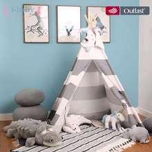I-bébé enfants jouent tente toile de coton tipi enfants jouet tente Cherokee Playhouse indien bébé chambre