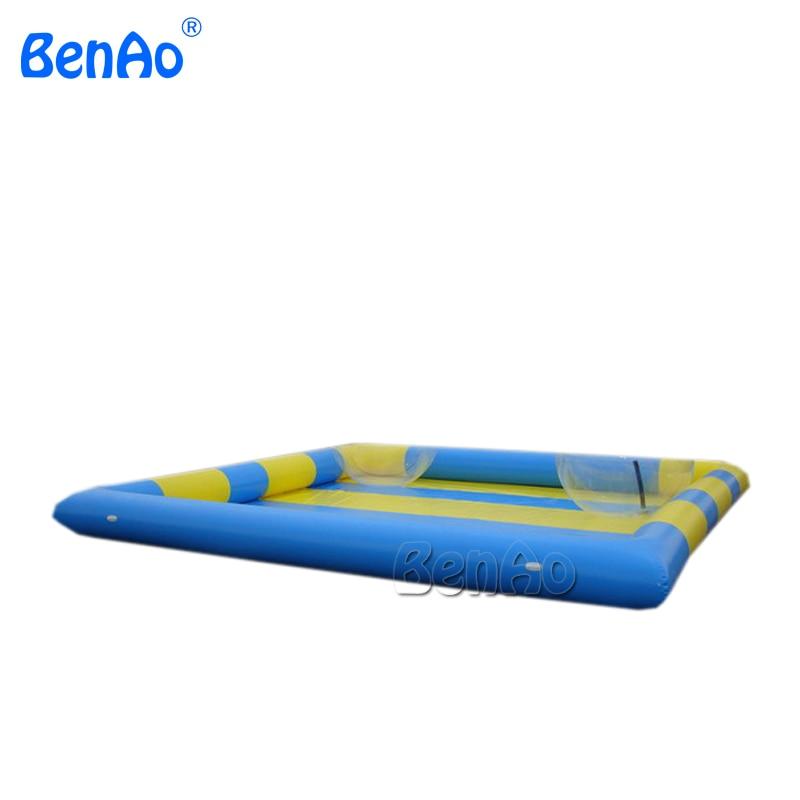 W014 8 m * 8 m piscina de agua, juego para piscina de 8-1 5 piezas de bola de agua de 0,6mm kits de reparación de PVC soplador de aire gratis