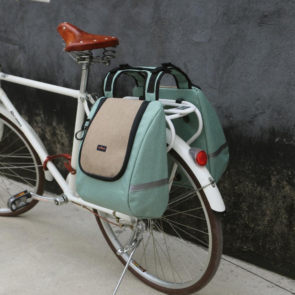 Tourbon Vintage bicicleta alforja bolsa trasera Rack Picnic paquete nevera fiambrera térmica aislante al aire libre portador de la motocicleta almacenamiento