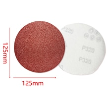 Herramienta de pulido de papel de arena de afilado Original de importación 5 uds 125mm disco de pulido de flocado circular rojo con arena 80-1000