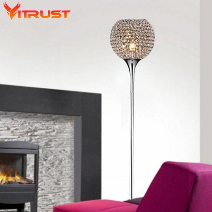 Lámparas de suelo de cristal para dormitorio, luces de suelo de mesa,...
