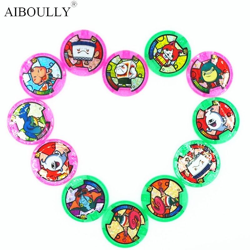 [AIBOULLY] Anime japonés Yokai Watch DX Peripheral yo-kai reloj de pulsera medallas colección emblema juguete 879