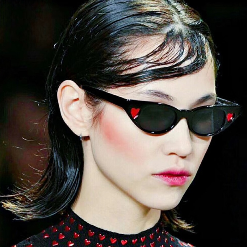 HJYBBSN 2019 Luxury Love Cat eye Sunglasses Women Plastic Candies Vintage Glasses Beat Outdoor UV400