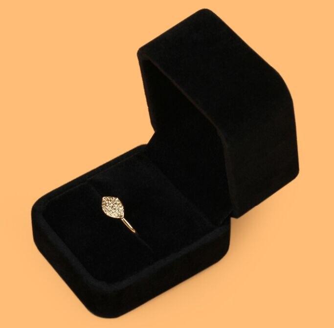 Caja de presentación para anillo joyería pendiente collar set funda de terciopelo alta calidad box02 caja al por mayor moonso