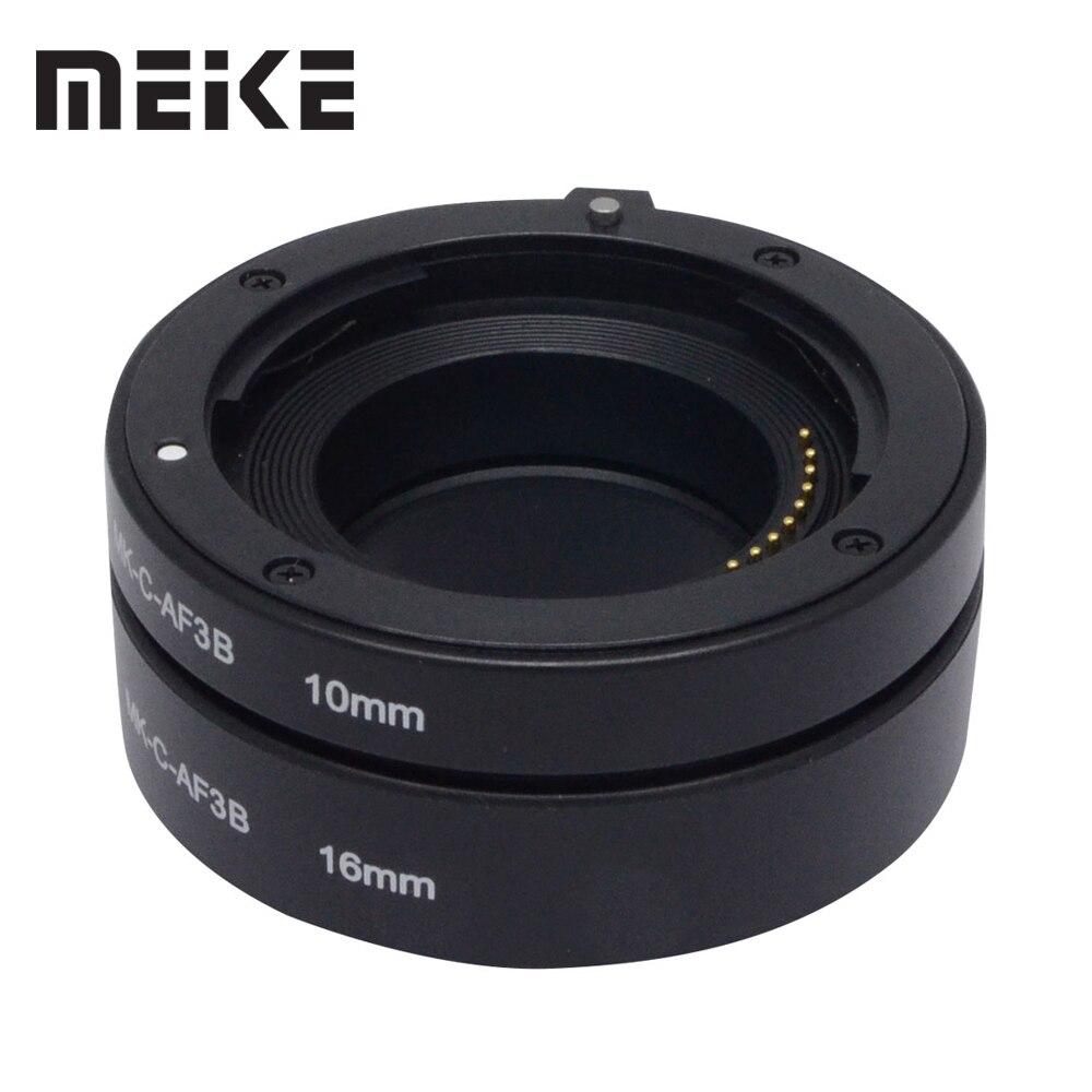 Meike AF Auto Foco Tubo de Extensão Macro Anel Adaptador 10mm 16mm para Canon EOS M M2 EF-M M10 m3 M5 M6 M100 M50 Câmera Mirrorless