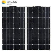 2 pièces 4 pièces 10 pièces panneau solaire 100 w semi monocristallin cellule solaire panneau flexible panneau solaire 12 V 24 V chargeur de batterie 400 w 1000 w