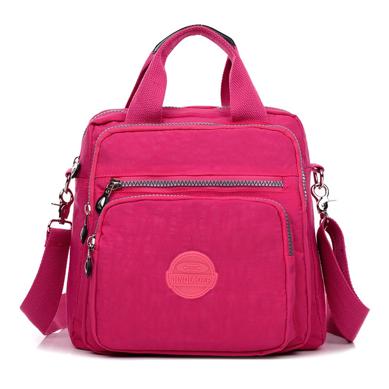 JINQIAOER Women Bag Waterproof Nylon Shoulder Messenger Bags Portable Female Backpack Multifunctiona
