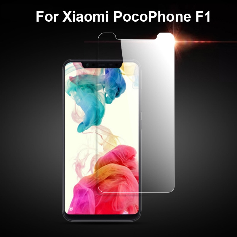 Tempered Glass for Xiaomi Pocophone F1 Screen Protector 9H 2.5D Phone Protective Glass for Xiaomi Po