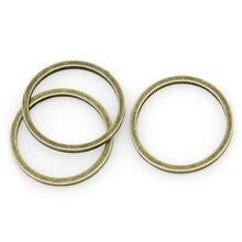8 saisons cuivre fermé anneaux de saut Antique Bronze 12mm Dia, 100 pièces (B30539)