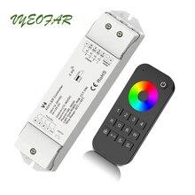 Led RGB Controlador RGBW 2.4 GHz RT9 4 zona Remota V4 Receptor Sem Fio; DC12V 24 V 5A * 4CH 20A Saída Led RGB Controlador Tira RGBW