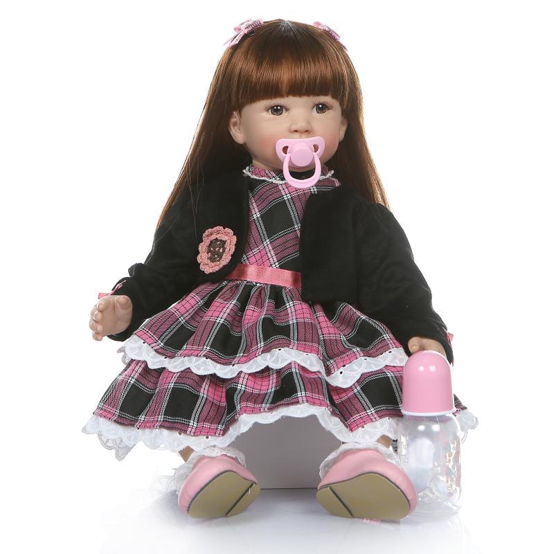 60cm Real Reborn Silicone Girl doll lol toys Reborn Dolls Toys bonecas baby vinyl newborn princess toddler play house brinquedos