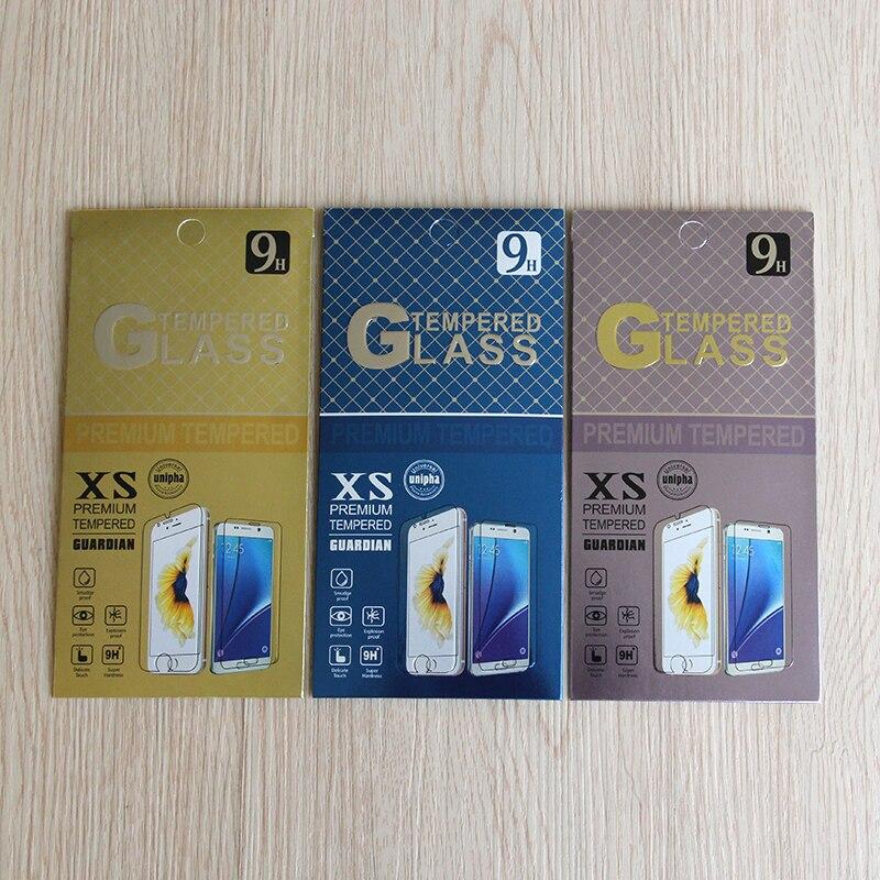 20 teile/los Handy Premium Gehärtetem Glas Film Schutz Einzelhandel Verpackung Box für iphone4 5 6S 7 plus Galaxy s5 S4 Papier Paket