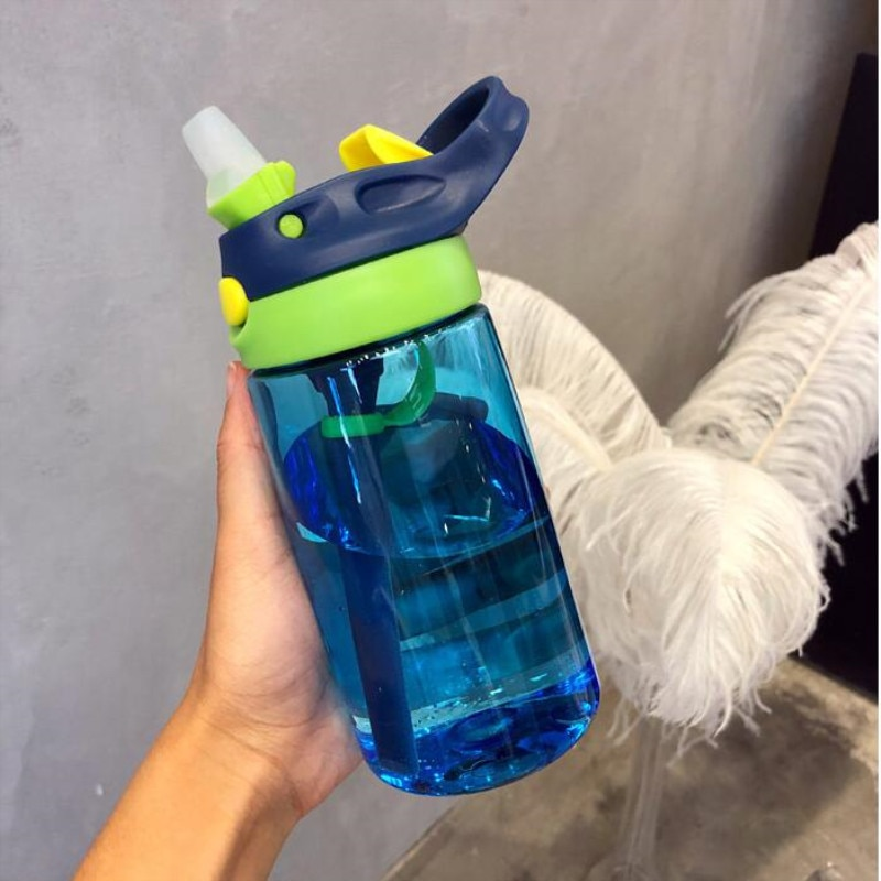 480ML Baby Kids Children Portable Feeding Drinking Water Bottle Cup With Straw