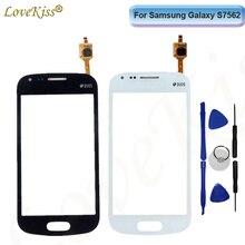 Voorpaneel Voor Samsung Galaxy Trend S7560 S Duos S7562 GT-S7562 7562 7560 Touch Screen Sensor LCD Display Digitizer Glas cover