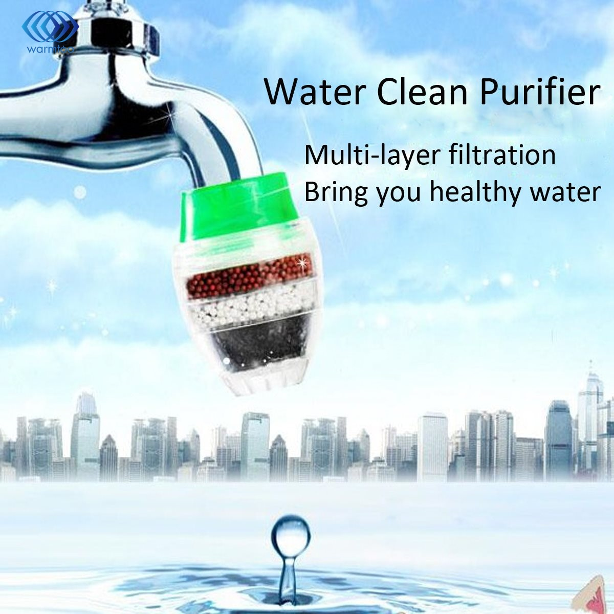 Household Activated Carbon Water Filter Mini Kitchen Faucet Purifier Water Purifying Plant Filtration Cartridge 21-23mm