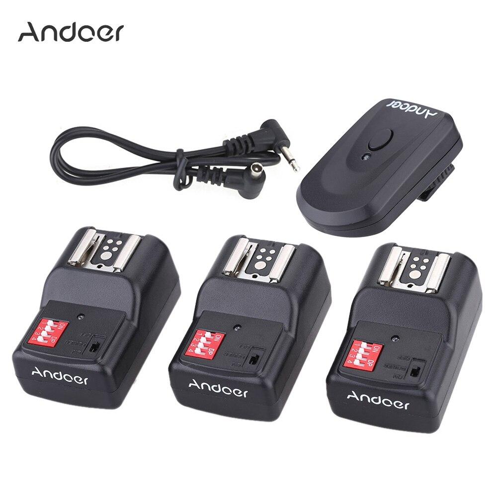 Беспроводной дистанционный триггер Andoer 16 каналов для Canon Nikon Pentax Olympus Sigma Vivitar Neewer YOUNGNUO Speedlite