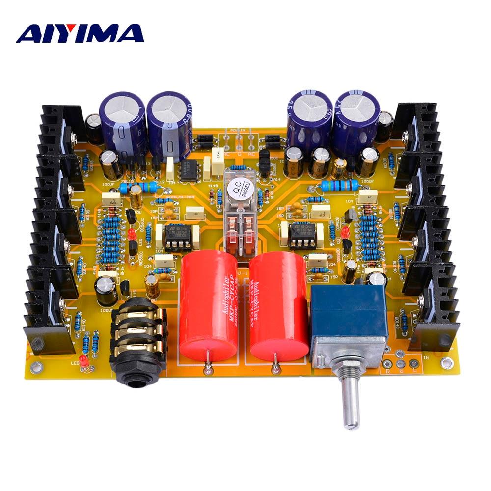 Placa amplificadora de auriculares Aiyima HV-1, auriculares montados, tarjeta de audio Amp, Base en Beyerdynamic A1