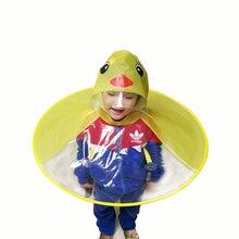 Jaune canard enfants imperméable UFO casquette parapluie automatique pliant parapluie enfants chapeau créatif imperméable cadeau étudiant femme chapeau de pluie