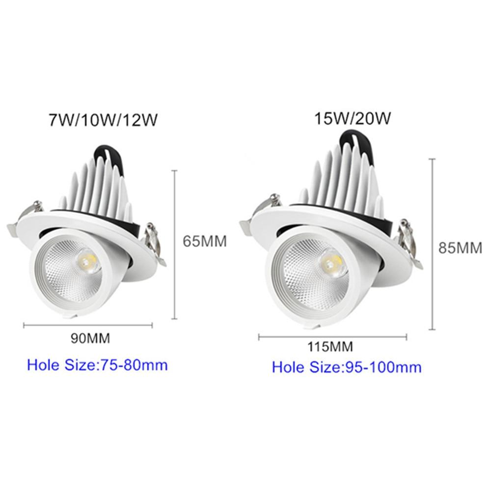 Купить с кэшбэком Dimmable Led Downlight 360 Rotate Adjustable Recessed Downlight Ceiling Lamp Dinning Room Living Room Spot Led Light Fixtures