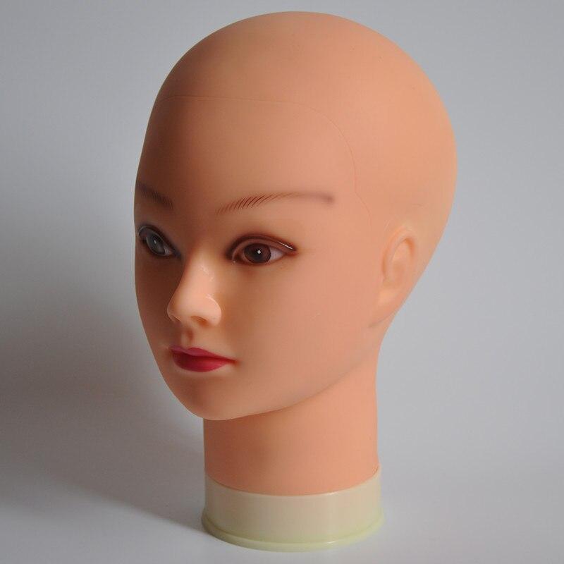 Beige formación cabeza cabezas de maniquí para cosmetología maniquí cabeza para la práctica de maquillaje maniquí cabeza