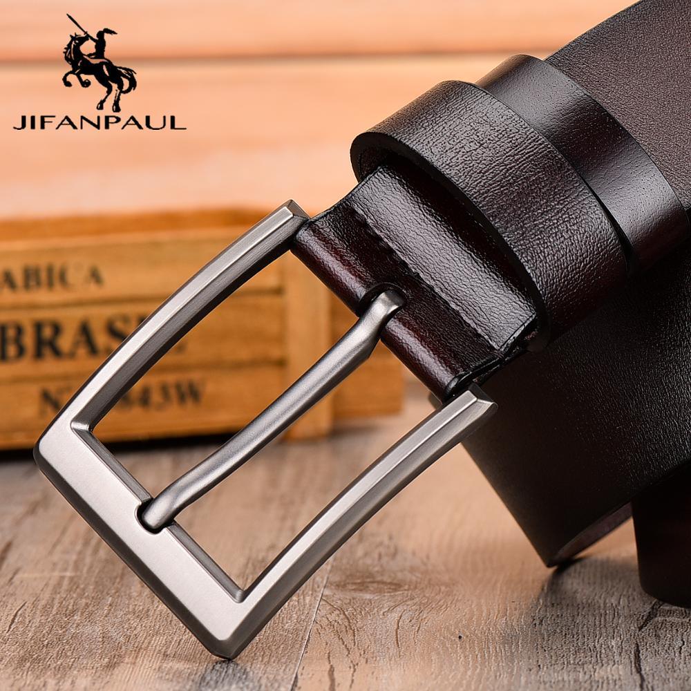 JIFANPAUL, cinturón de cuero para hombres, diseño clásico de hebilla de pin, Vaqueros juveniles modernos de moda, cinturón decorativo de alta calidad, envío gratis