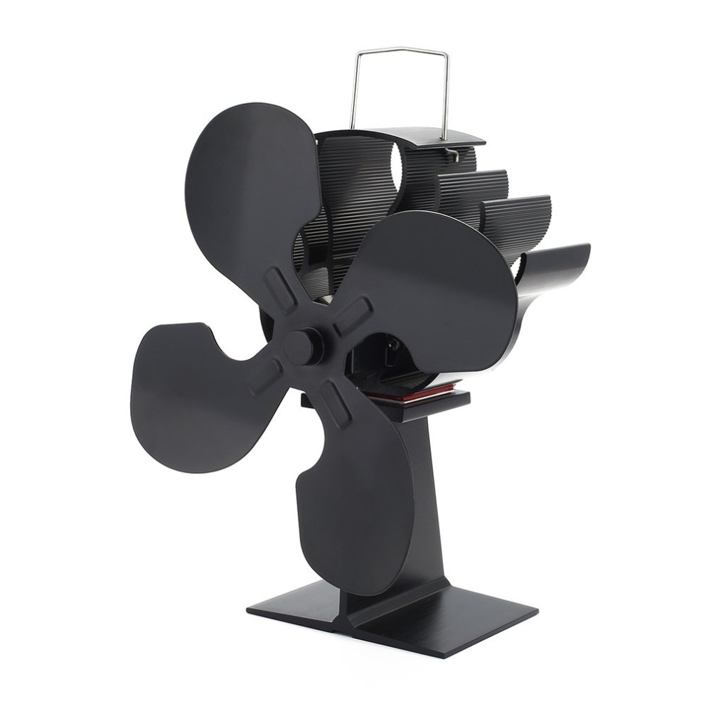 4-Blade Heat Powered Stove Fan for Wood / Log Burner/Fireplace - Eco Heater Tool Winter Warm Heater
