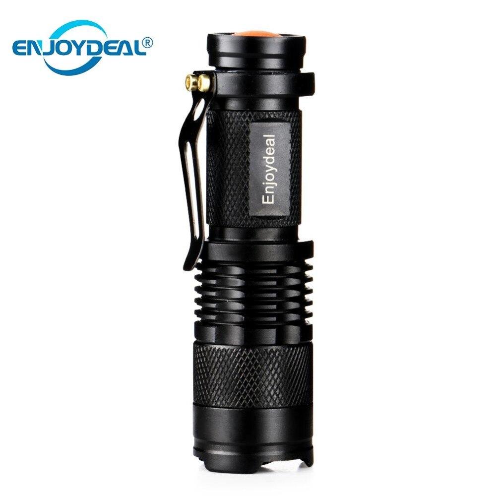 Mini lanterna LED Lanterna Tocha 2000LM Q5 Spot LED Lanterna Foco Ajustável Zoom Flash de luz Da Lâmpada Para AA/14500 bateria