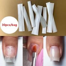MSHARE Fiberglass Nail Extension Fiber Glass Nails Form Fibernails Builder 30pcs / 2M