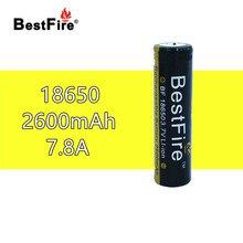 1pcs Bestfire Flashlight Battery 18650 2600mAh 3.7V Li-ion Rechargeable Bateria for Torch Light Toys Tools B112 B018 B017 B036